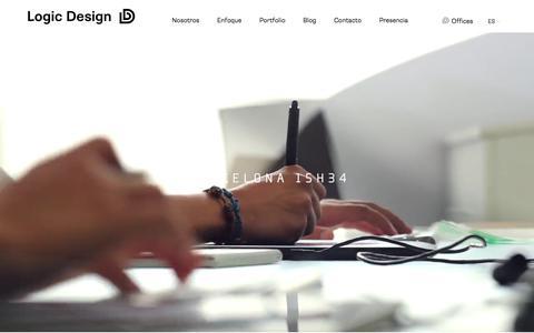 Screenshot of Home Page logic-design.es - Logic Design | Open Up Together - captured July 12, 2017