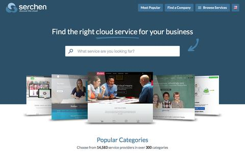 Screenshot of Home Page serchen.com - Online Service Reviews and Comparisons | Serchen - captured Oct. 1, 2015