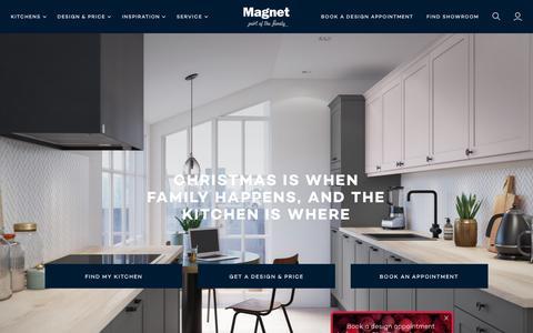 Screenshot of Home Page magnet.co.uk - Magnet   Fitted Kitchen & Kitchen Design Specialists - captured Dec. 12, 2018