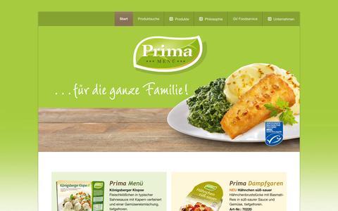 Screenshot of Home Page einfach-prima.de - Prima Menüs - captured Jan. 31, 2016
