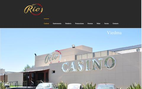Screenshot of Home Page crowncasino.com.ar - Del Rio | Hoteles y Casinos - captured Oct. 3, 2014