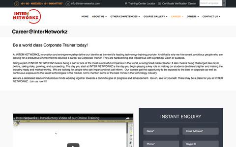 Screenshot of Jobs Page inter-networkz.com - Career Opportunities at Inter Networkz - captured June 7, 2017