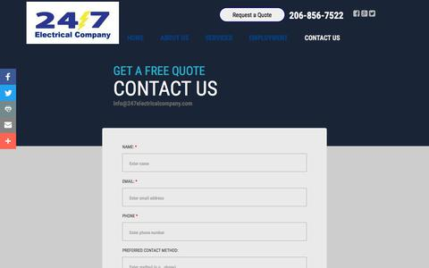 Screenshot of Privacy Page Contact Page 247electricalcompany.com - Contact 24/7 Electrical Company - captured Sept. 21, 2018