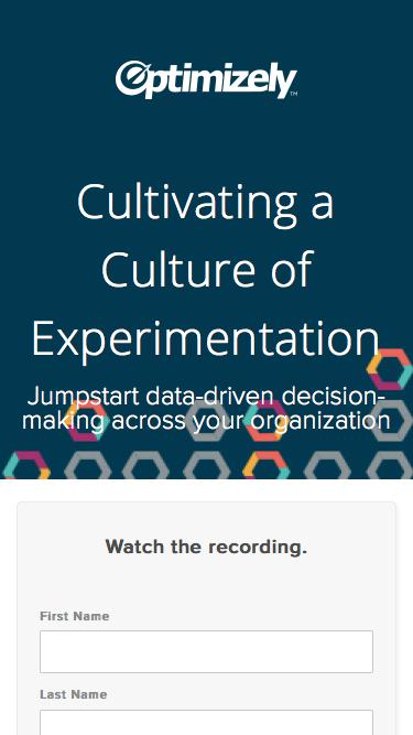 Cultivating a Culture of Experimentation