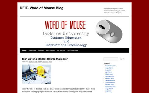 DEIT- Word of Mouse Blog  | Supporting the effective use of instructional technology in Center Valley and around the globe.