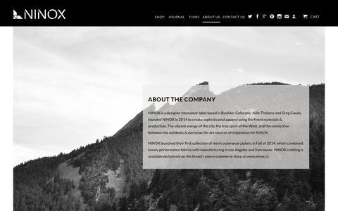 Screenshot of About Page ninox.cc - About NINOX                           | NINOX - captured Oct. 9, 2014