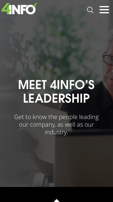 Screenshot of Team Page  4info.com - 4INFO - Leadership