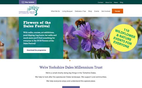 Screenshot of Home Page ydmt.org - Yorkshire Dales Millennium Trust | Working together for the Dales - captured Oct. 18, 2018