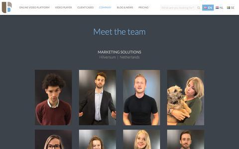 Screenshot of Team Page bluebillywig.com - Team | Blue Billywig - captured Feb. 18, 2020