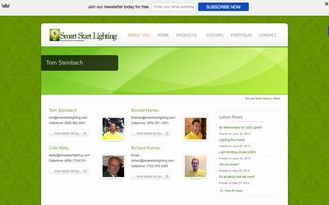 Screenshot of Team Page smartstartlighting.com - Team Archives - Smart Start Lighting - captured Feb. 15, 2016