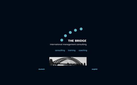 Screenshot of Home Page bridgeconsultants.com - THE BRIDGE - international management consulting - captured Oct. 7, 2014