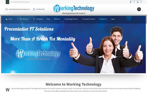 Screenshot of Home Page working-technology.com - Home - Working Technology - captured Sept. 30, 2014