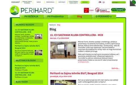 Screenshot of Blog perihard.rs - Blog | Perihard Inženjering - captured Oct. 1, 2014
