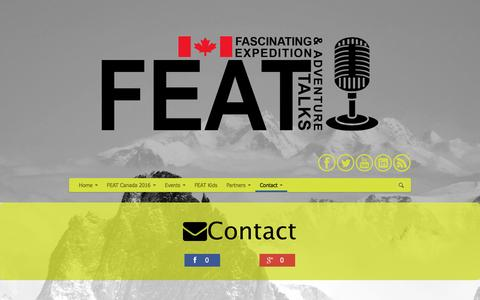 Screenshot of Contact Page featcanada.ca - FEAT Canada | Contact us - captured Jan. 8, 2016