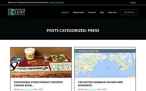 Screenshot of Press Page sdsu.edu - Press - captured May 15, 2017