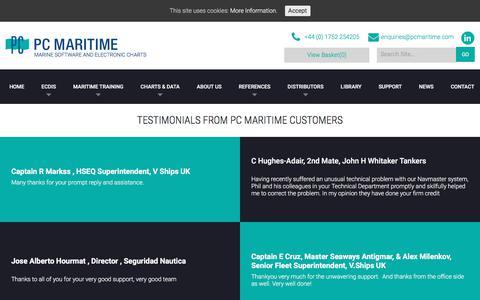 Screenshot of Testimonials Page pcmaritime.com - Testimonials - PC Maritime - captured Sept. 22, 2018