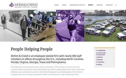 Screenshot of About Page mckimcreed.com - About   McKim & Creed - captured May 27, 2017