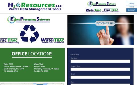 Screenshot of Contact Page watertrac.com - watertrac.com contact - captured July 6, 2017
