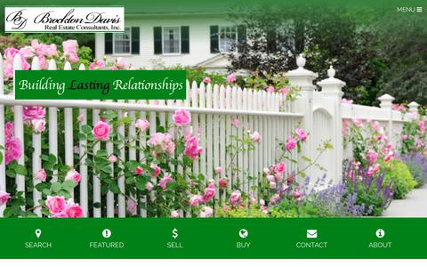 Screenshot of Home Page brocktondavis.com - Brockton Davis Real Estate Consultants, Inc. - Building Lasting Relationships - captured Oct. 6, 2018