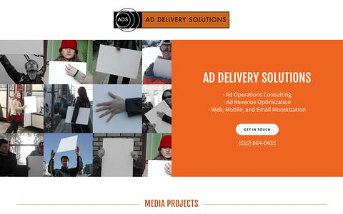 Screenshot of Home Page addeliverysolutions.com - Ad Operations Consulting, Ad Revenue Optimization - Ad Delivery Solutions Inc. - captured Oct. 7, 2017