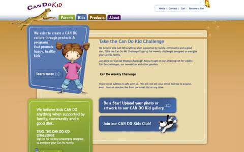 Screenshot of Signup Page iamacandokid.com - Take the Can Do Kid Challenge | Can Do Kids - captured Oct. 1, 2014