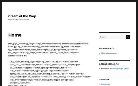 Cream of the Crop: Creative Agency Birmingham, UK