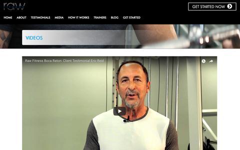 Screenshot of Press Page rawboca.com - Gym Boca | Fitness in Boca Raton - captured Oct. 18, 2018