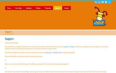 Screenshot of Support Page heppi.nl - Support - Heppi.nlHeppi.nl - captured July 13, 2016