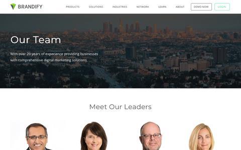 Screenshot of Team Page brandify.com - Brandify Team - captured April 15, 2018
