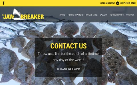 Screenshot of Contact Page jawbreakerfishing.com - Contact Us | Jawbreaker Charters - captured Oct. 16, 2017