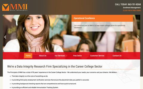 Screenshot of Home Page mmicollegeconnection.com - Career College Connection - captured Nov. 11, 2018