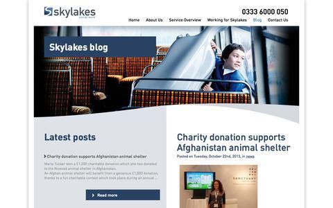 Screenshot of Blog skylakes.co.uk - Blog | Skylakes Social Work - captured Oct. 4, 2014