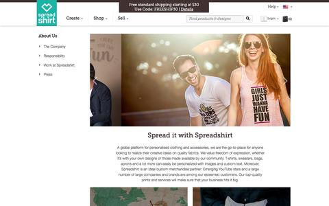 Screenshot of About Page spreadshirt.com - About Us | Spreadshirt - captured Oct. 26, 2015