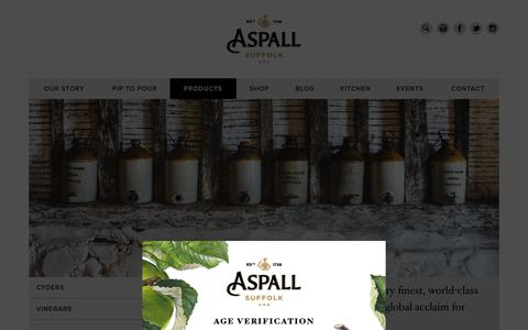 Screenshot of Products Page aspall.co.uk - Products – Aspall - captured Sept. 30, 2014
