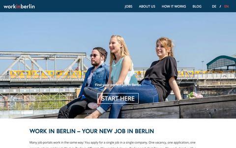 Screenshot of Home Page work-in-berlin.com - Find your perfect job in Berlin   Work in berlin - captured Nov. 16, 2018