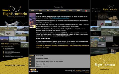 Screenshot of About Page flightontario.com - Flight Ontario - About - captured Sept. 30, 2014
