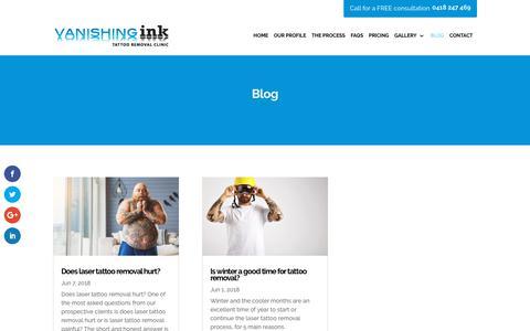 Screenshot of Blog vanishingink.com.au - Blog - Vanishing Ink - captured Oct. 18, 2018