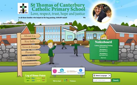 Screenshot of Home Page stthomasofcantrcpri.iow.sch.uk - Home | St Thomas of Canterbury Catholic Primary School - captured Oct. 14, 2015