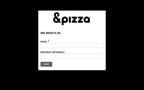 Screenshot of Signup Page list-manage.com - &pizza UPDATES - captured Oct. 22, 2018