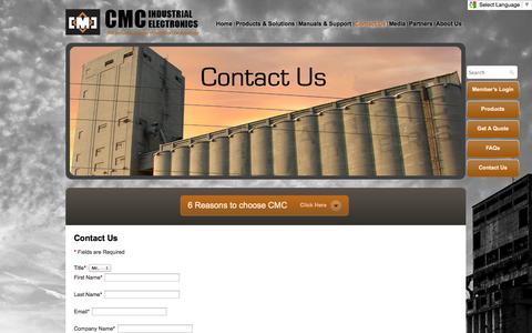 Screenshot of Contact Page cmciel.com - Contact Us | CMCIEL - captured Oct. 1, 2014