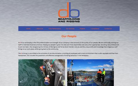 Screenshot of Team Page dbscaffolding.com.au - Brisbane Scaffolding and Rigging   » Our People - captured March 27, 2016