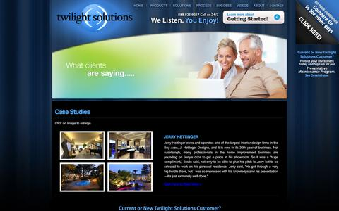 Screenshot of Case Studies Page twilightsolutionsinc.com - Home Theatre, Home automation �Audio video installation - captured Dec. 5, 2015
