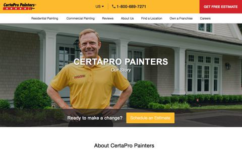 Screenshot of About Page certapro.com - CertaPro Painters ® - Company Information - Certapro History - captured Aug. 30, 2019