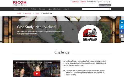Screenshot of Case Studies Page ricoh-usa.com - mindSHIFT Case Study | Nebraskaland - captured Jan. 3, 2019