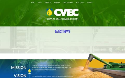 Screenshot of Press Page cvec.com - Latest News – CVEC - captured Sept. 27, 2018