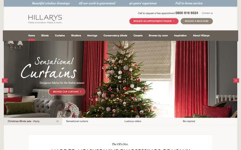 Screenshot of Home Page hillarys.co.uk - Made-to-Measure Window Dressings by Hillarys | Up to 50% off - captured Nov. 17, 2015