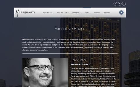 Screenshot of Team Page mapperarti.com - Executive Board | Mapperarti - captured Jan. 9, 2016