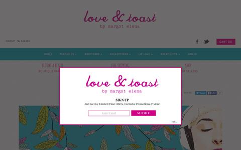 Screenshot of About Page loveandtoast.com - About Us - Love & Toast - captured March 28, 2016