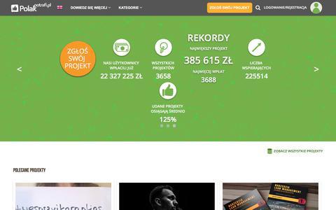 Screenshot of Home Page polakpotrafi.pl - PolakPotrafi.pl - crowdfunding, finansowanie społecznościowe - captured Sept. 21, 2018