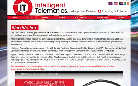 Screenshot of About Page intelligent-telematics.ie - Who We Are - captured Nov. 19, 2016